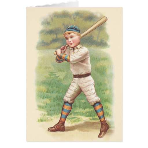 Jugador de béisbol tarjeta de felicitación
