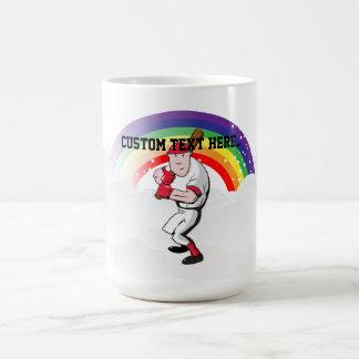 Jugador de béisbol taza