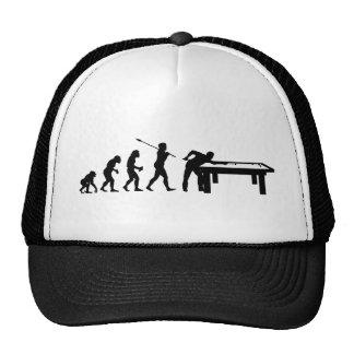 Jugador de billar gorras de camionero