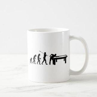Jugador de billar taza de café