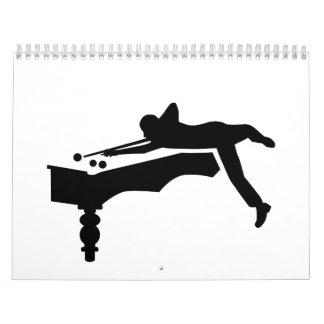 Jugador de billares calendarios de pared