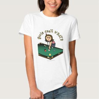 Jugador de billares femenino ligero playera
