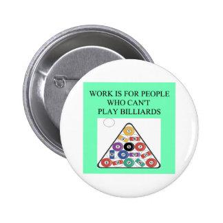 jugador de billares pin