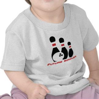 Jugador de bolos, bola de bolos y pernos futuros camiseta