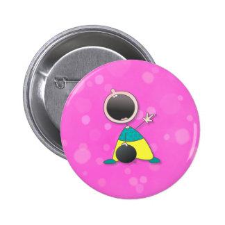 Jugador de bolos del bebé del campeón pin redondo 5 cm