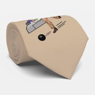 Jugador de bolos en marrón claro, personalizable corbatas personalizadas