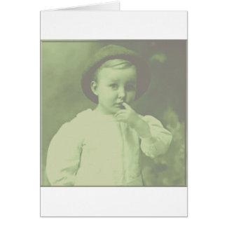 Jugador de bolos joven tarjeta de felicitación