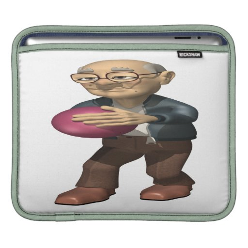 Jugador de bolos manga de iPad