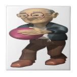Jugador de bolos teja  ceramica