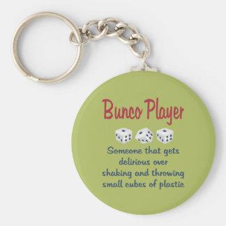 Jugador de Bunco - definición Llavero Personalizado