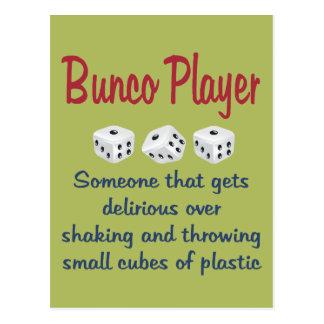 Jugador de Bunco - definición Postales