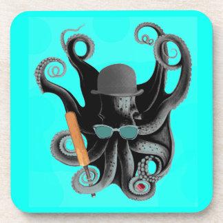 jugador de criquet del pulpo del steampunk del vin posavasos