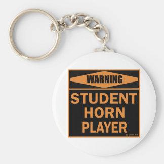 Jugador de cuerno del estudiante llavero personalizado