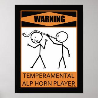 Jugador de cuerno temperamental amonestador de la  impresiones