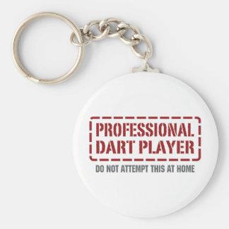 Jugador de dardo profesional llavero redondo tipo pin