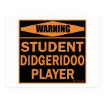 Jugador de Didgeridoo del estudiante Postal