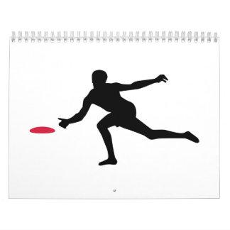 Jugador de Discgolf Calendarios De Pared