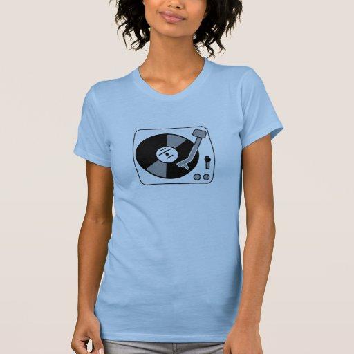 Jugador de disco de vinilo camisetas