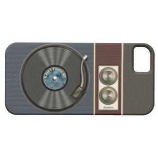 Jugador de disco de vinilo divertido del vintage iPhone 5 fundas