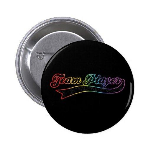 Jugador de equipo del arco iris pin