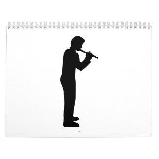 Jugador de flauta calendarios de pared