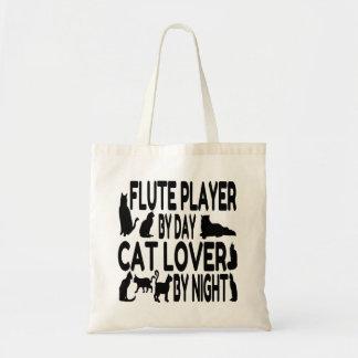 Jugador de flauta del amante del gato