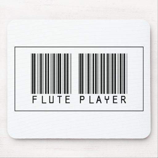 Jugador de flauta del código de barras alfombrillas de ratones