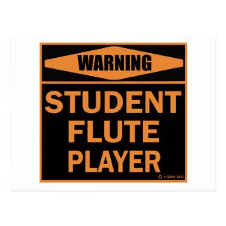 Jugador de flauta del estudiante postal