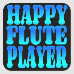Jugador de flauta feliz