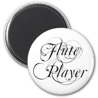 Jugador de flauta imán redondo 5 cm