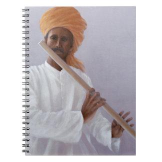Jugador de flauta libreta espiral