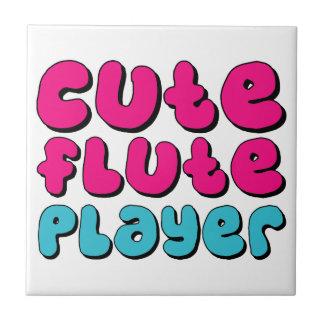 Jugador de flauta lindo azulejos cerámicos