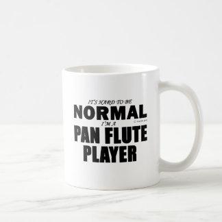 Jugador de flauta normal de la cacerola taza básica blanca