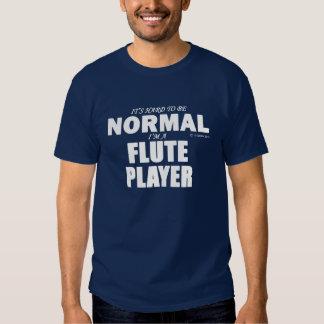 Jugador de flauta normal playera