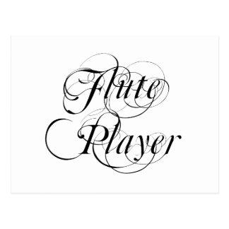 Jugador de flauta postales