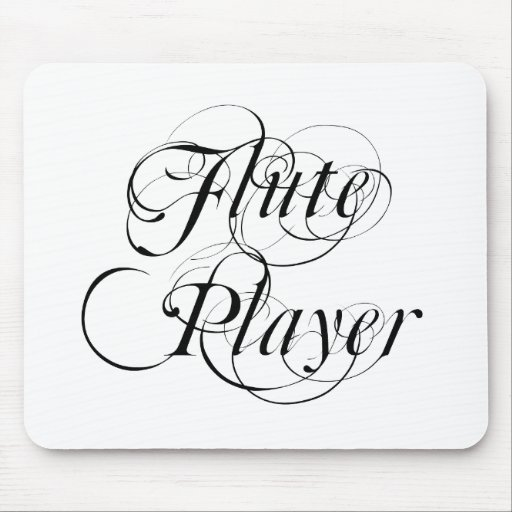 Jugador de flauta tapete de ratones
