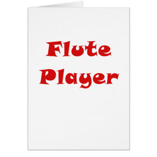 Jugador de flauta tarjeta de felicitación