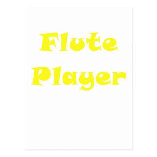 Jugador de flauta tarjeta postal