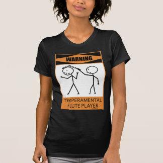 Jugador de flauta temperamental amonestador camiseta