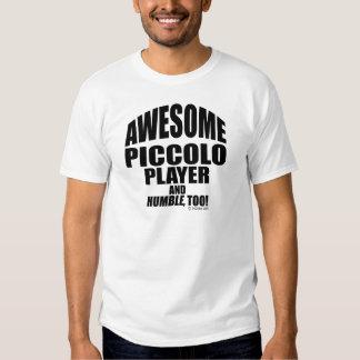 Jugador de flautín impresionante remeras