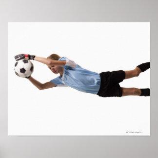 Jugador de fútbol 4 póster