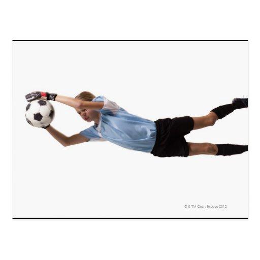 Jugador de fútbol 4 tarjeta postal