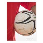 Jugador de fútbol 5 tarjetas postales