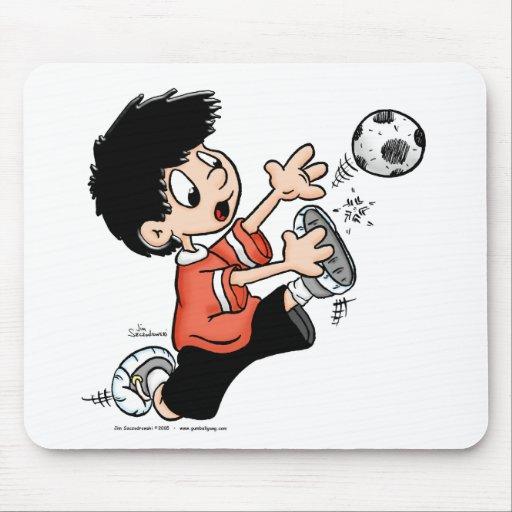 Jugador de fútbol alfombrilla de raton