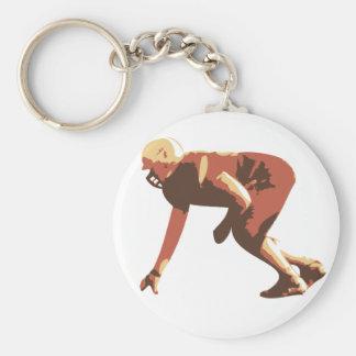 jugador de fútbol americano llavero redondo tipo pin