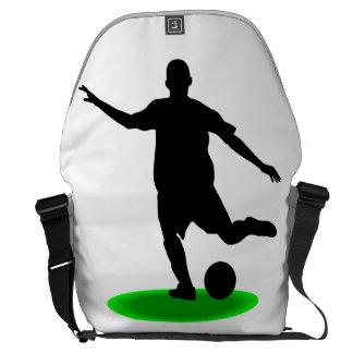 Jugador de fútbol bolsa de mensajeria