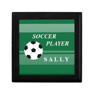 Jugador de fútbol cajas de joyas