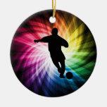 Jugador de fútbol; colorido ornamento para reyes magos