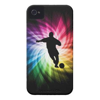 Jugador de fútbol; colorido Case-Mate iPhone 4 cárcasas