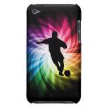 Jugador de fútbol; colorido iPod Case-Mate protectores